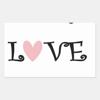 teach love inspire rectangular sticker