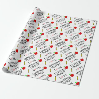teach love inspire wrapping paper