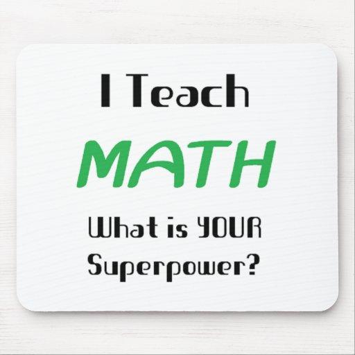 Teach math mousepads