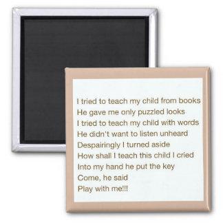 Teach my child square magnet
