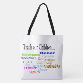 Teach our Children Tote bag
