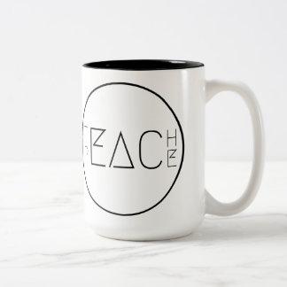 Teach Peace Two-Tone Coffee Mug