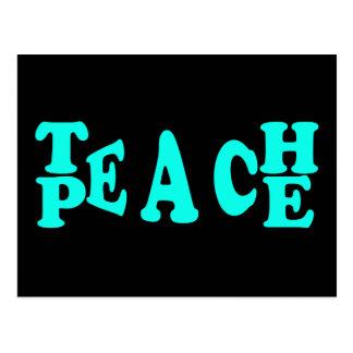 Teach Peach In Light Blue Font Postcard