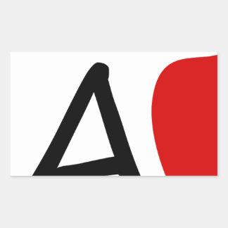 teach rectangular sticker