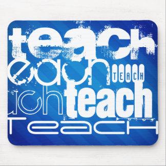 Teach; Royal Blue Stripes Mouse Pad