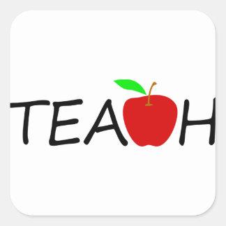 teach square sticker