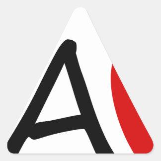 teach triangle sticker