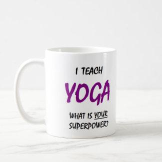 Teach yoga coffee mug