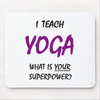 Teach yoga mouse pad