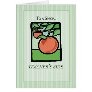 Teacher Aide Thank You, Apple Card