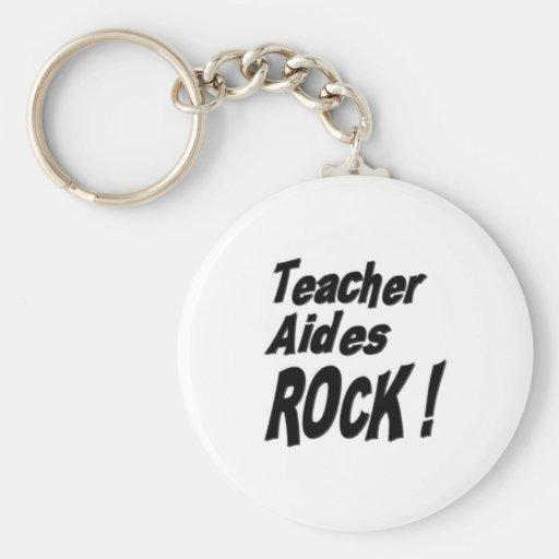 Teacher Aides Rock! Keychain