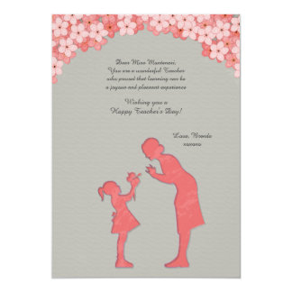 Teacher and Student Greeting Card 13 Cm X 18 Cm Invitation Card