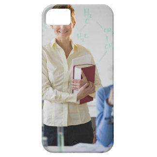 Teacher and student in science lab case for the iPhone 5