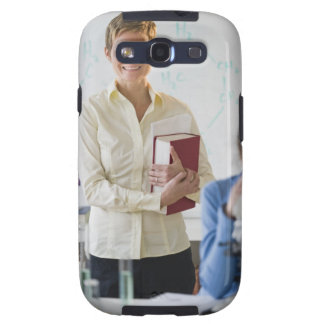 Teacher and student in science lab samsung galaxy s3 case