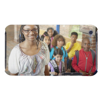 Teacher and students in school hallway iPod touch cover