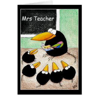 Teacher and students thank you note card