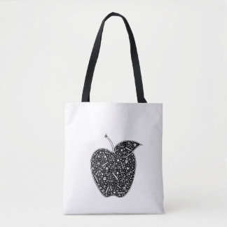 Teacher apple tote bag