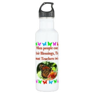 TEACHER APPRECIATION BUTTERFLY DESIGN 710 ML WATER BOTTLE