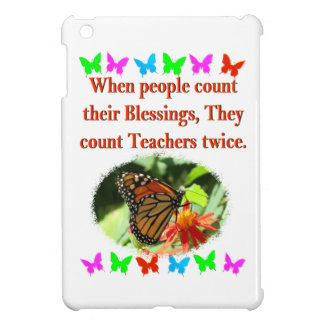 TEACHER APPRECIATION BUTTERFLY DESIGN COVER FOR THE iPad MINI