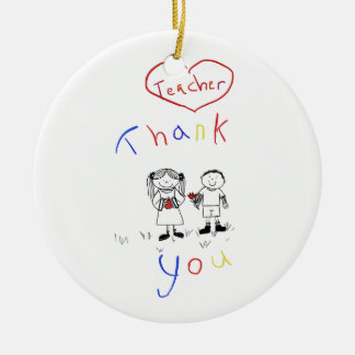 Teacher appreciation ceramic ornament
