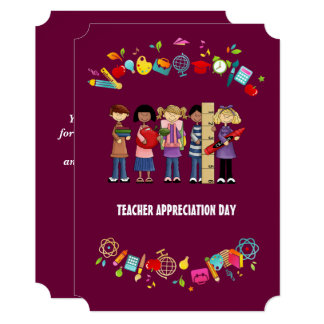 Teacher Appreciation Day. Customizable Cards 13 Cm X 18 Cm Invitation Card