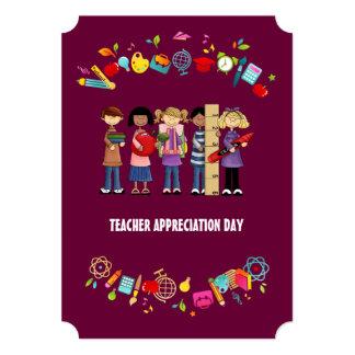 Teacher Appreciation Day. Customizable Cards 13 Cm X 18 Cm Invitation Card