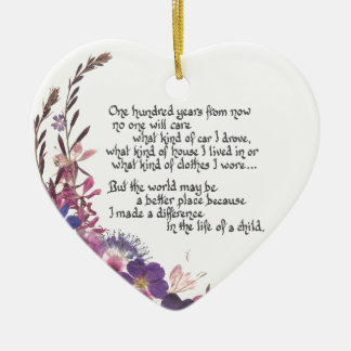 Teacher Appreciation Gift Ceramic Ornament