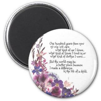 Teacher Appreciation Poem 6 Cm Round Magnet