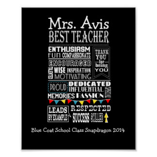 teacher appreciation poster print