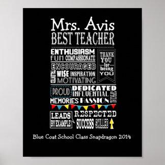 teacher appreciation poster print