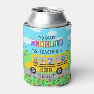 Teacher Appreciation Thank You | Cute Bus Animals Can Cooler