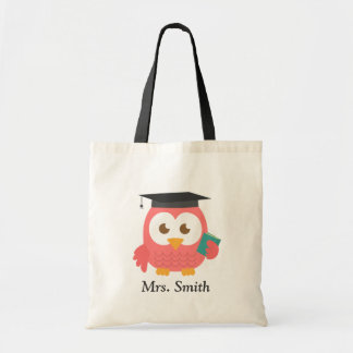 Teacher Appreciation, Thank You Pink Owl Budget Tote Bag