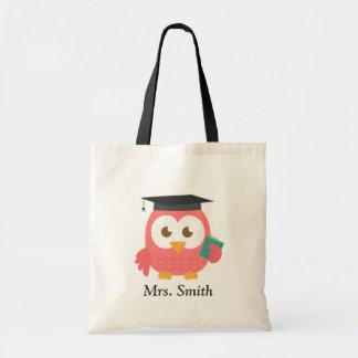 Teacher Appreciation, Thank You Pink Owl Budget Tote Bag