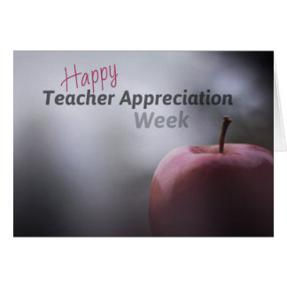Teacher Appreciation Week Cards