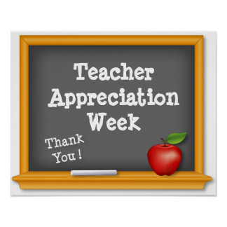 Teacher Appreciation Week Poster, Thank You ! Poster