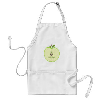 Teacher Apron Green Apple Half I Love Preschool