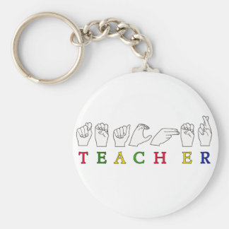 TEACHER ASL SIGN LANGUAGE FINGERSPELLED KEY RING