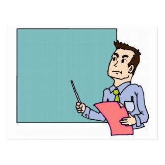 Teacher At Blackboard Postcard