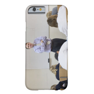 Teacher at front of class, children working hard barely there iPhone 6 case
