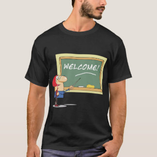 Teacher At The Blackboard Mens T-Shirt