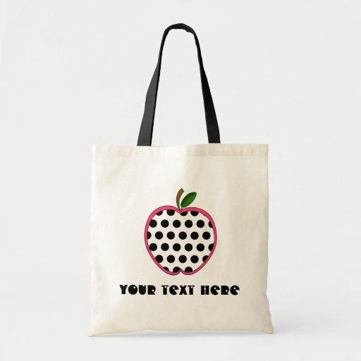 Teacher Bag - Polka Dot Apple