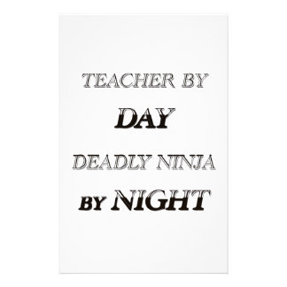 TEACHER BY DAY PERSONALIZED STATIONERY