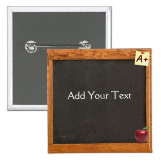 Teacher Chalkboard 15 Cm Square Badge