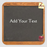 Teacher Chalkboard Square Sticker