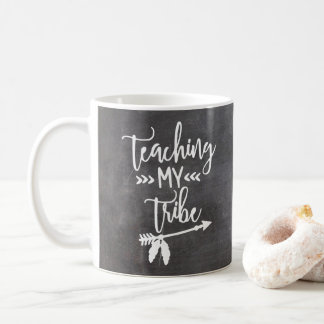 Teacher chalkboard tribal white typography script coffee mug