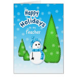 Teacher Christmas Snowman