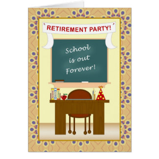Teacher Classroom Retirement Party Invitation