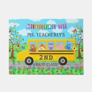 Teacher Classroom Welcome | Cute Animals on Bus Doormat