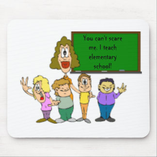 teacher_clipart_8, You can't scare me. I teach ... Mouse Pad