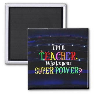 Teacher, colorful custom design magnet